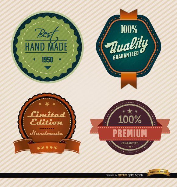 4 distintivos de características especiales del producto