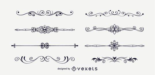 Ornamentos de decoração de página elegante