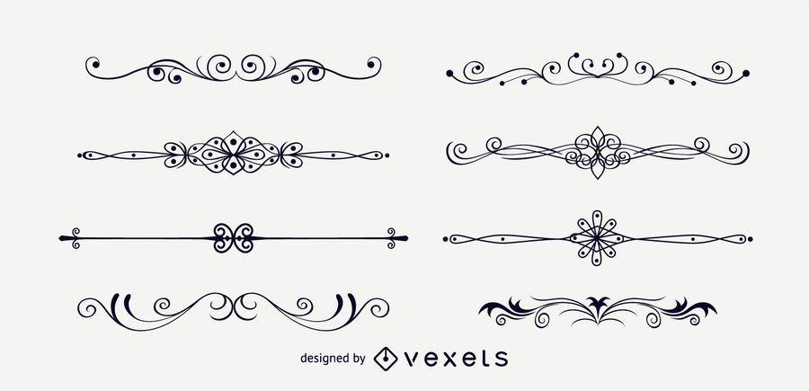 Adornos de decoración de página elegante