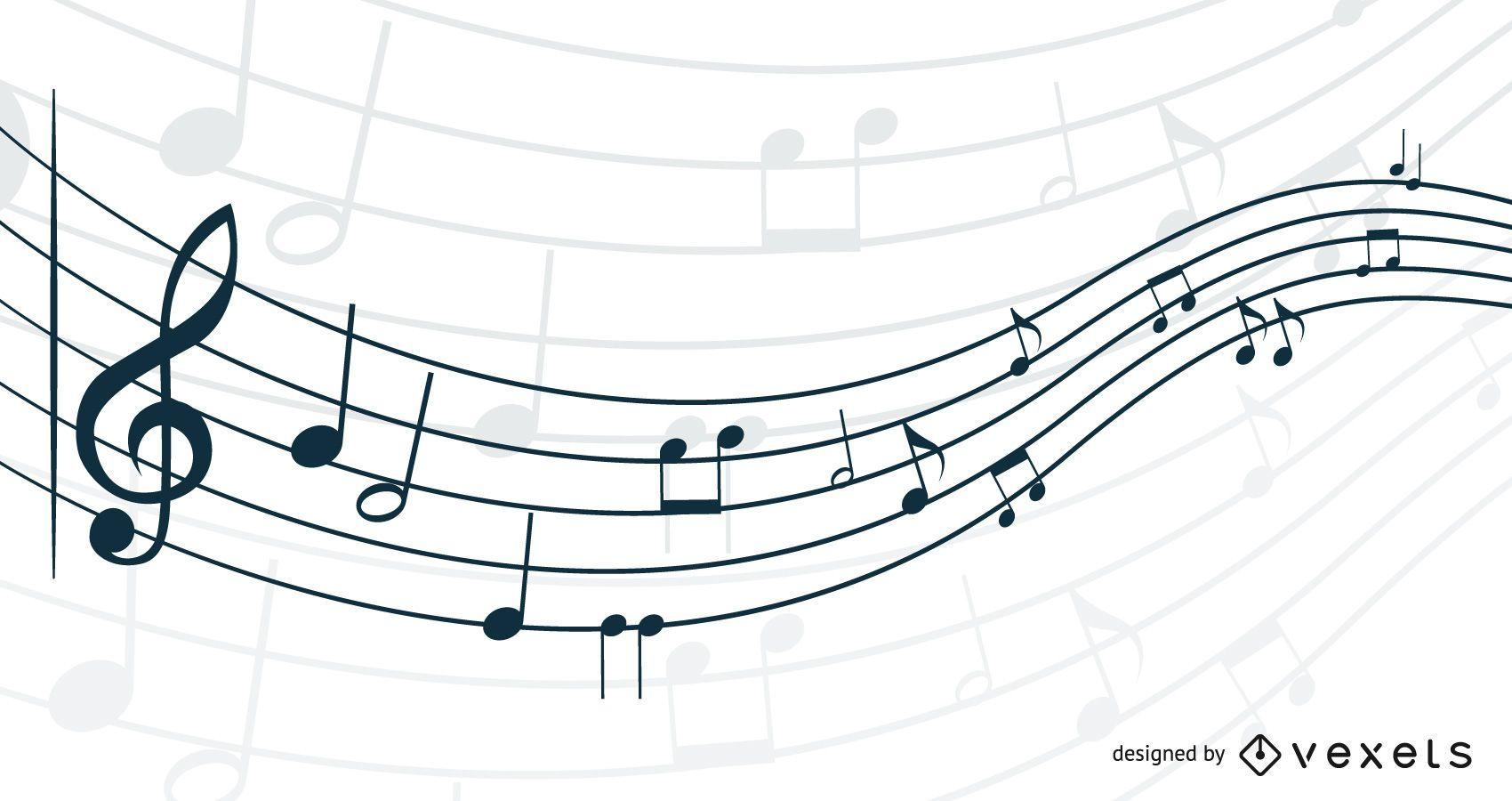 Agitando nota musical 3D