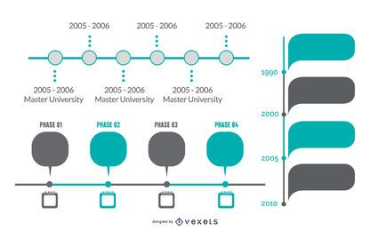 Elegantes Infografik- und Projektzeitplan-Set