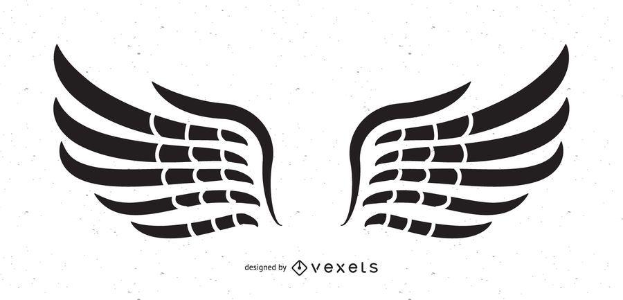 Black & White Tribal Wings
