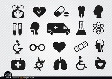 20 ícones médicos e de saúde