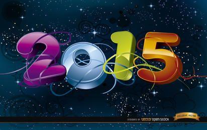 Celebración 2015 en el fondo del espacio.