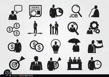 20 iconos de hombre de negocios