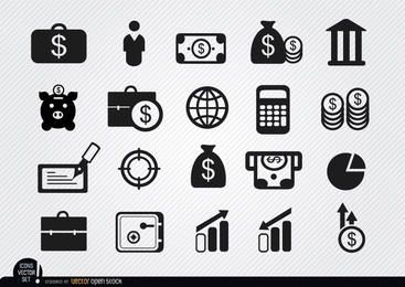 20 Money investments and savings icons