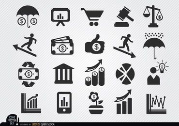 Conjunto de ícones econômicos