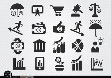 Iconos económicos establezcan