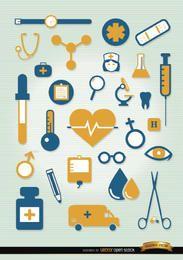 Conjunto de iconos de hospital