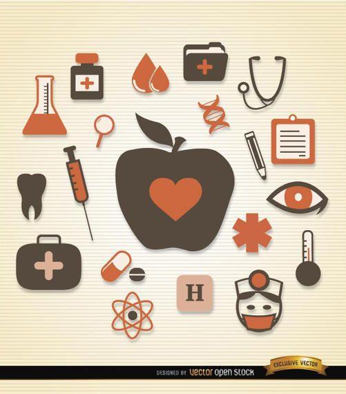 Pack de iconos de salud medica