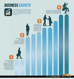 Infografia de crescimento de negócios