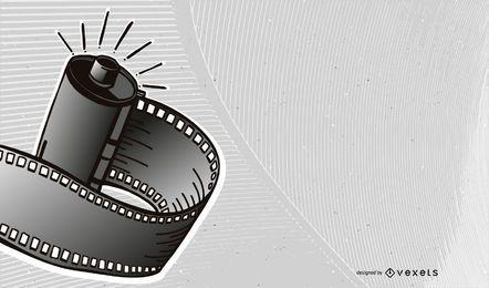 Fondo de tira de película creativa 3D