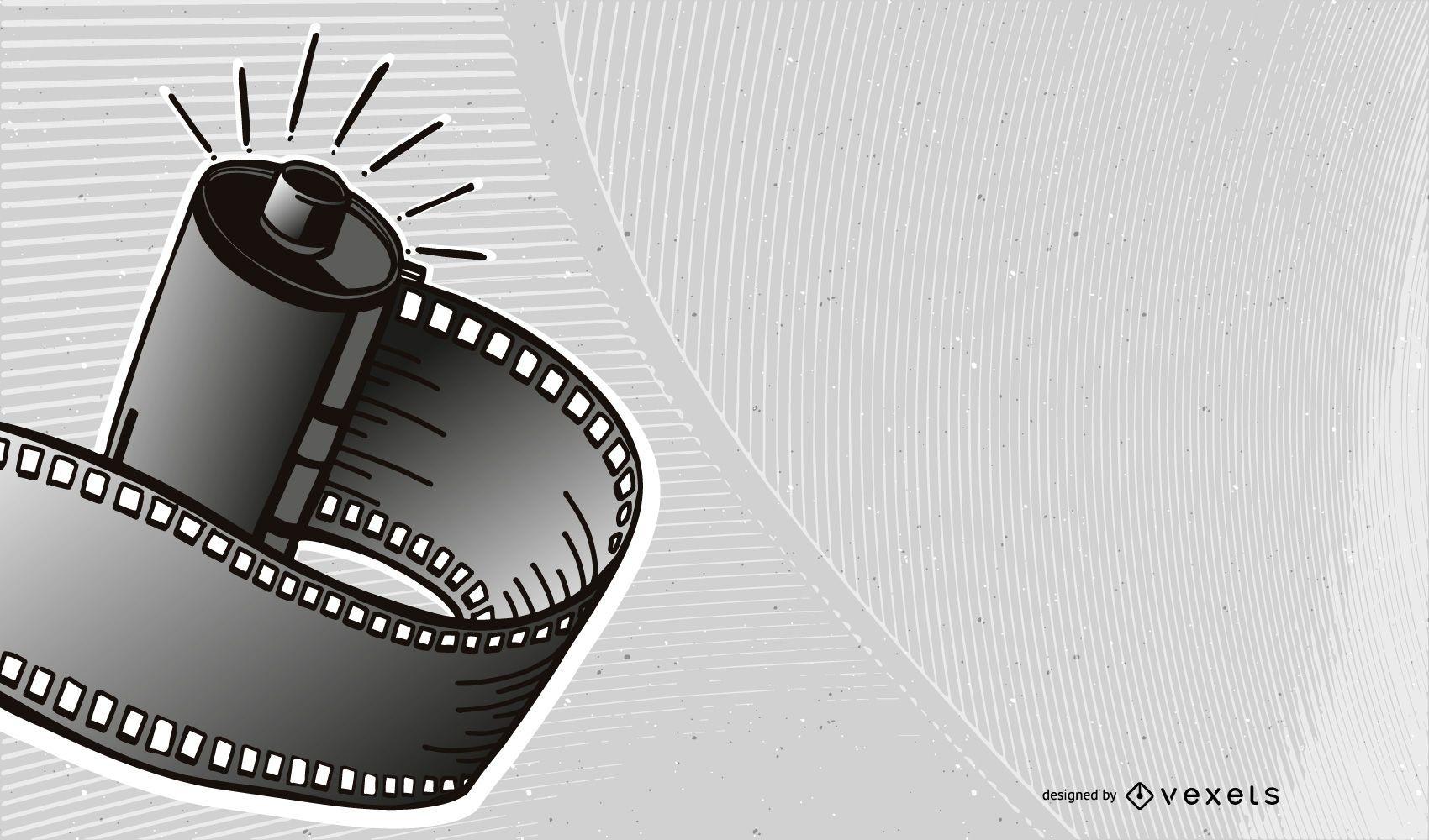 Creative 3D Film Strip Background