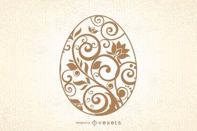 Tarjeta de Pascua decorativa creativa de la vendimia