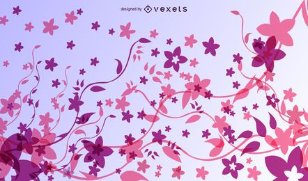 Fancy Abstract Floral Colorful Fluorescent Background