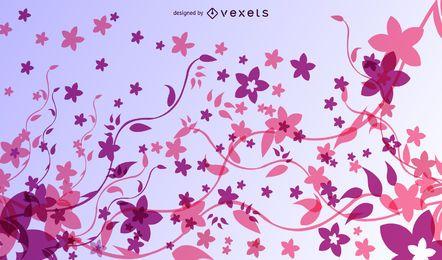 Fantastischer abstrakter bunter fluoreszierender mit Blumenhintergrund