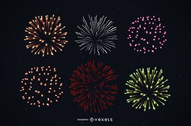 Bright Colorful Detailed Firework Pack