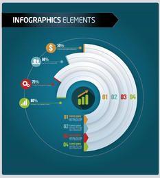 Negócios infográficos nível por setor