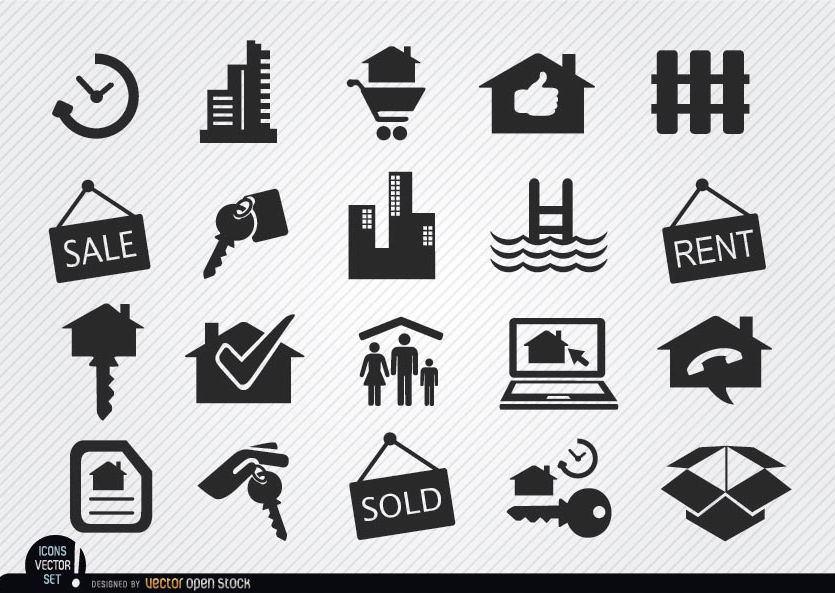 Real Estate 40 free icons (SVG EPS PSD PNG files)