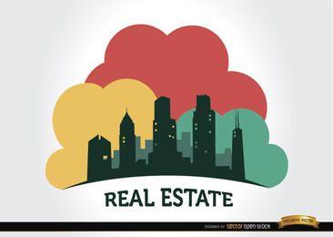 Logotipo de la empresa inmobiliaria de edificios