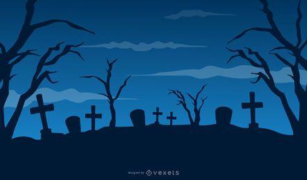 Fiesta de Halloween en el cementerio con Hunted House & Tree