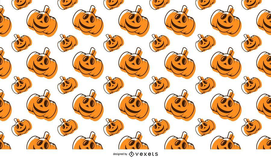 Calabaza de Halloween de patrones sin fisuras con huesos y murciélagos