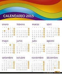 Calendário 2015 do arco-íris Espanhol