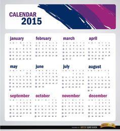 2015 artistic brushstrokes calendar