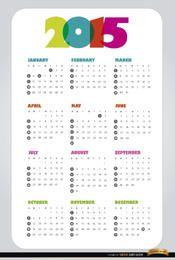 Einfacher Kalender 2015