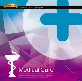 Fondo médico poligonal de la salud.