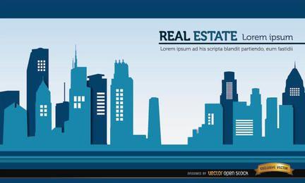 Fundo de edifícios imobiliários