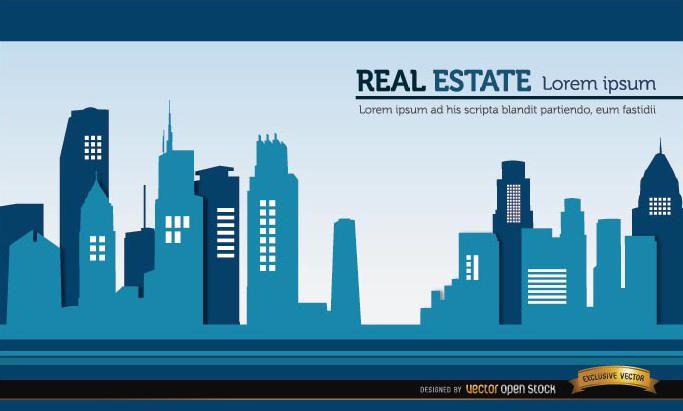 Fondo de edificios de bienes raíces