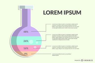 Diseño de etiqueta de infografía de química