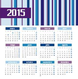 2015 farbiger Balkenkalender spanisch