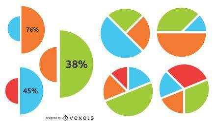 Infografía de negocios de gráfico circular creativo