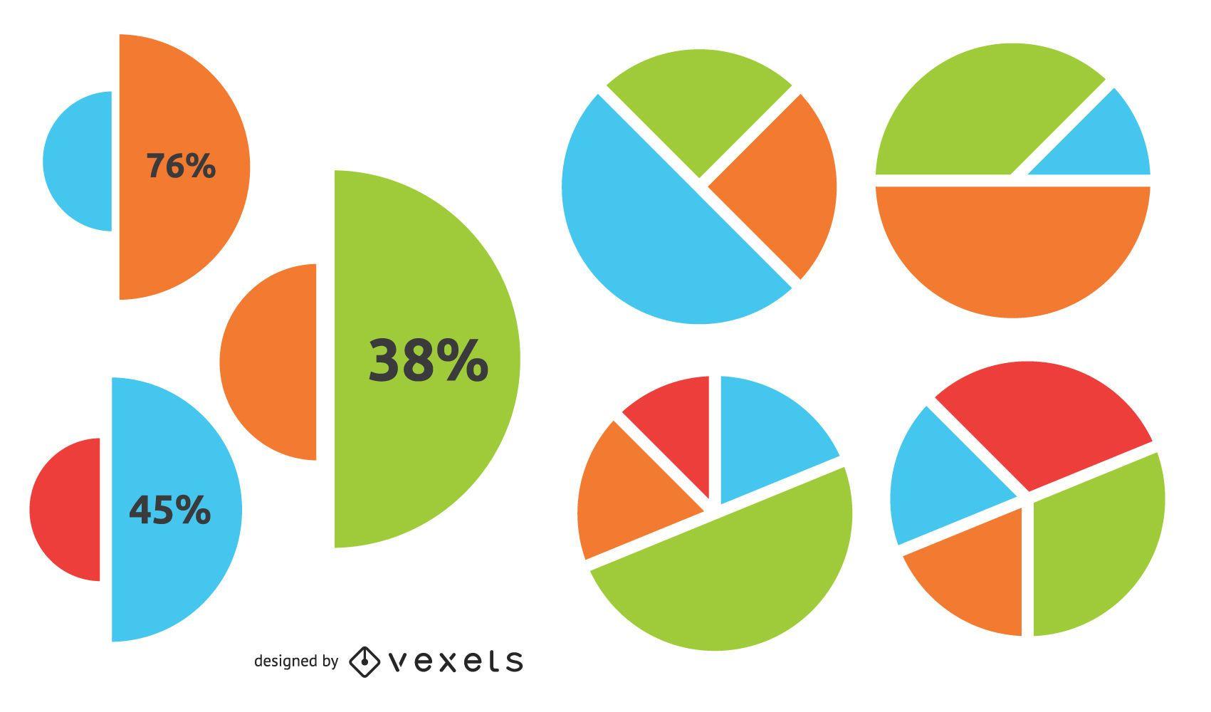 Infográfico de negócios de gráfico circular criativo