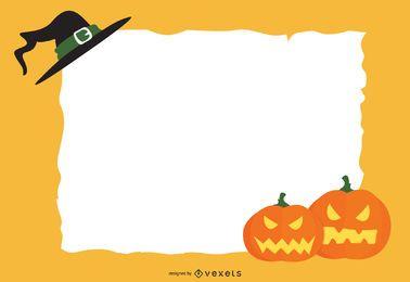 Invitación de Halloween con cartel de papel rasgado