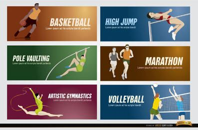 Banners de deportes olimpicos