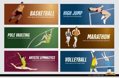 Banners de esportes olímpicos