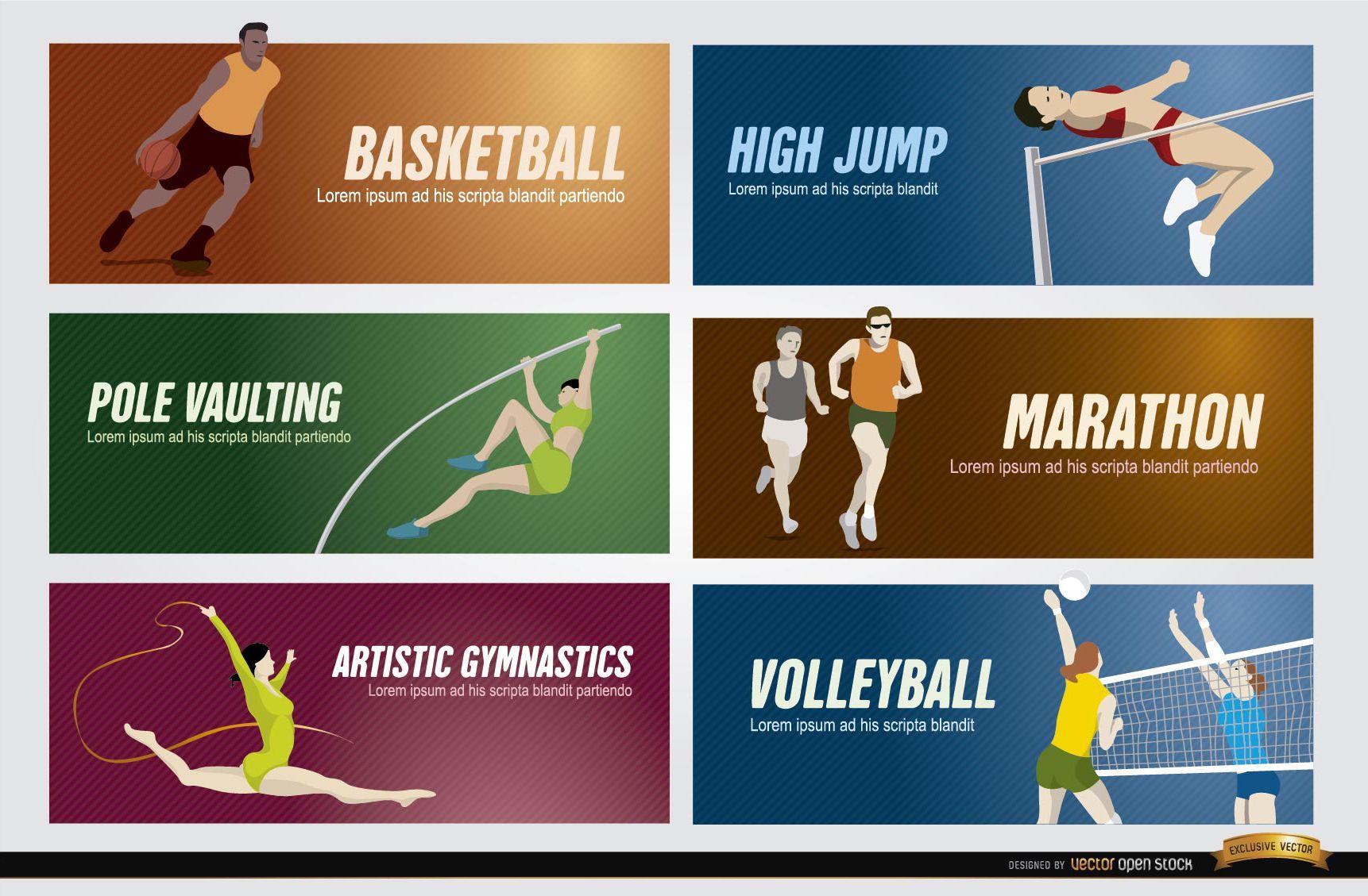 Banners deportivos olímpicos