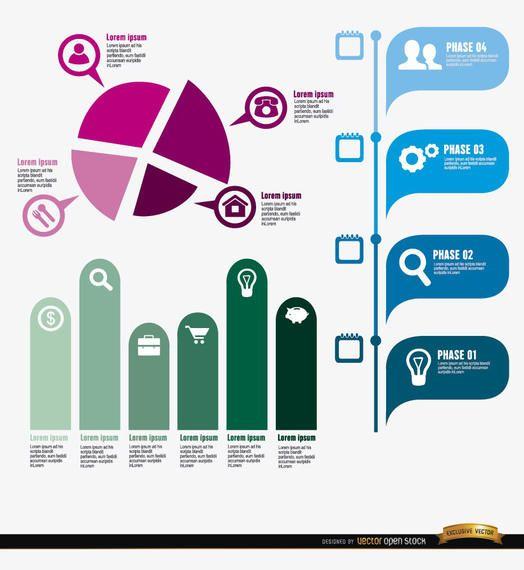 Project development infographics