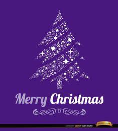 Fondo feliz árbol de navidad