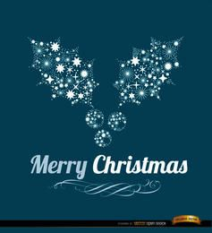 Feliz navidad de fondo de muérdago