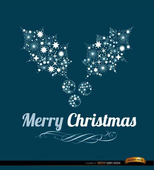 Fundo de visco feliz Natal
