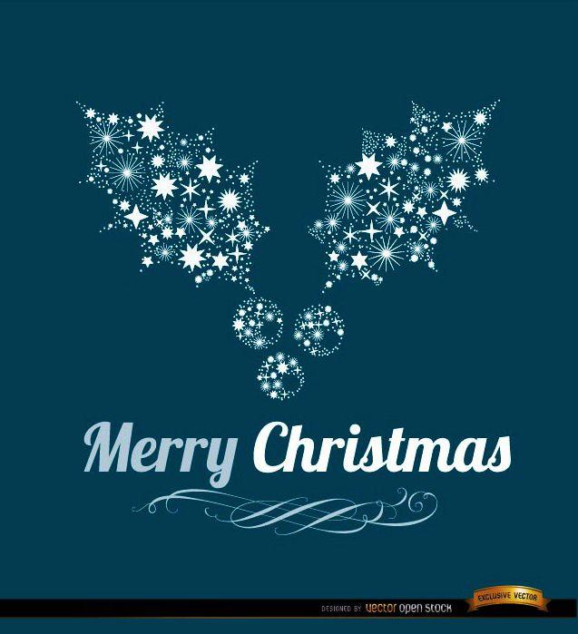 Merry Christmas mistletoe background