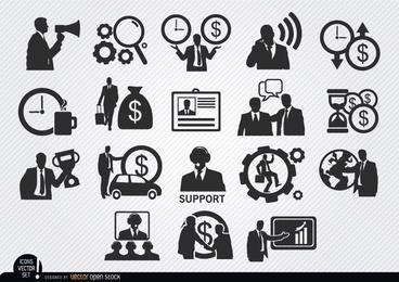 Iconos de empresario establecen