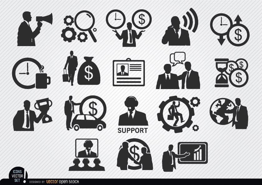 Conjunto de iconos de empresario