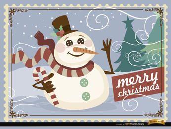 Fondo de muñeco de nieve de Navidad