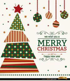 Fondo de deseos de árbol de Navidad