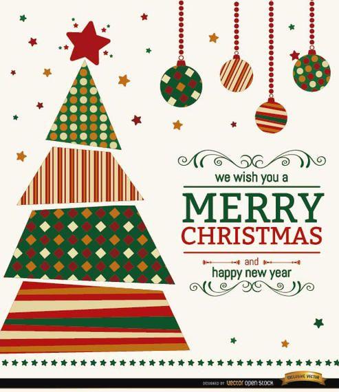 Weihnachtsbaum wünscht Hintergrund
